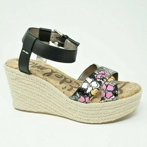 NWOB Sam Edelman Destin Platform Sandals Floral